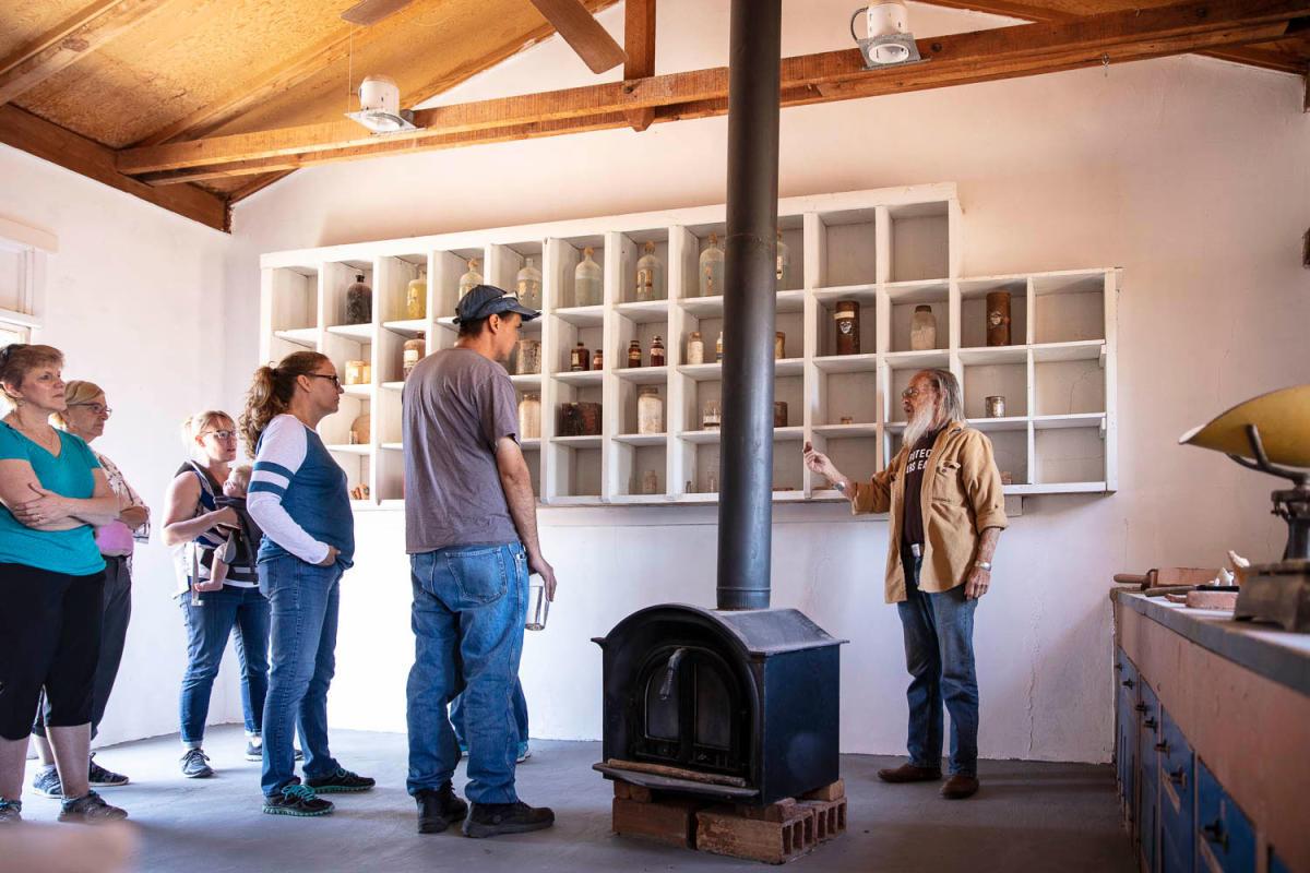 Pete Eidenbach takes visitors through the property