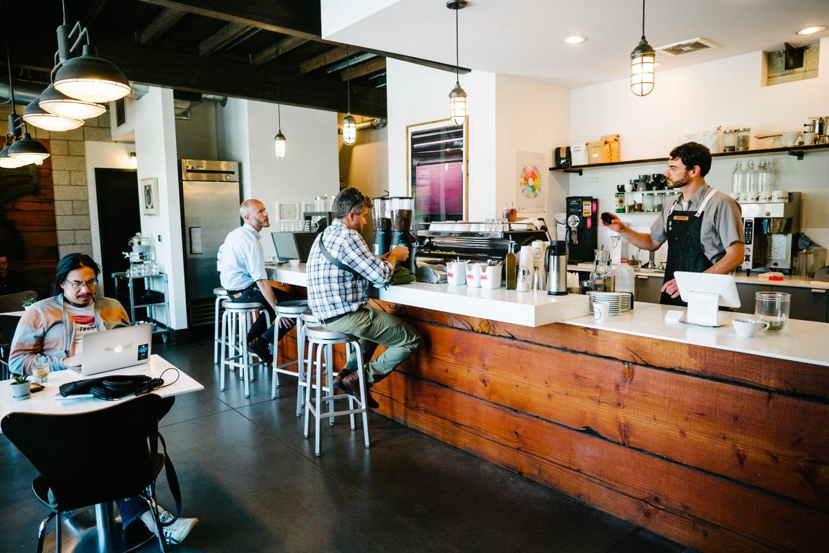 Blue Copper Coffee Room