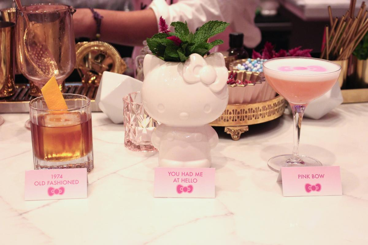 Cocktail service at Hello Kitty Cafe