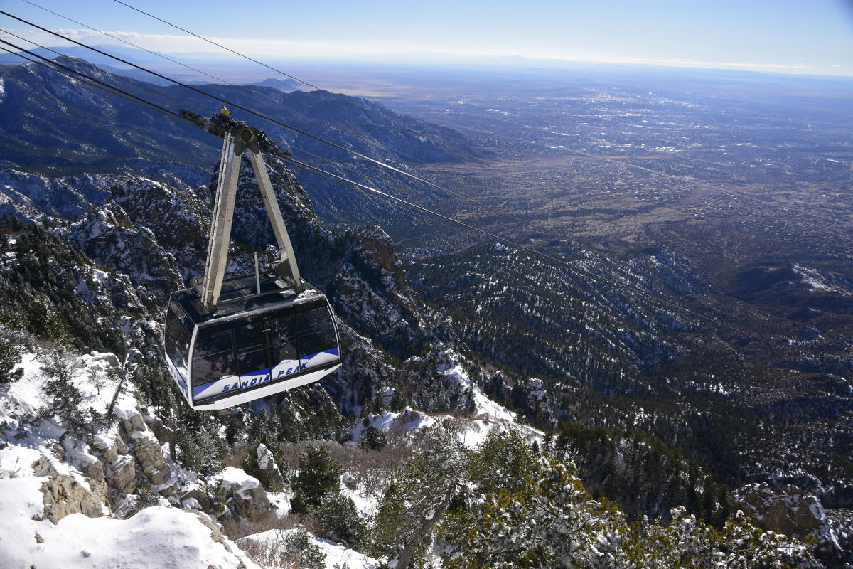 Winter New Tram Car Sandia Aerial Tramway