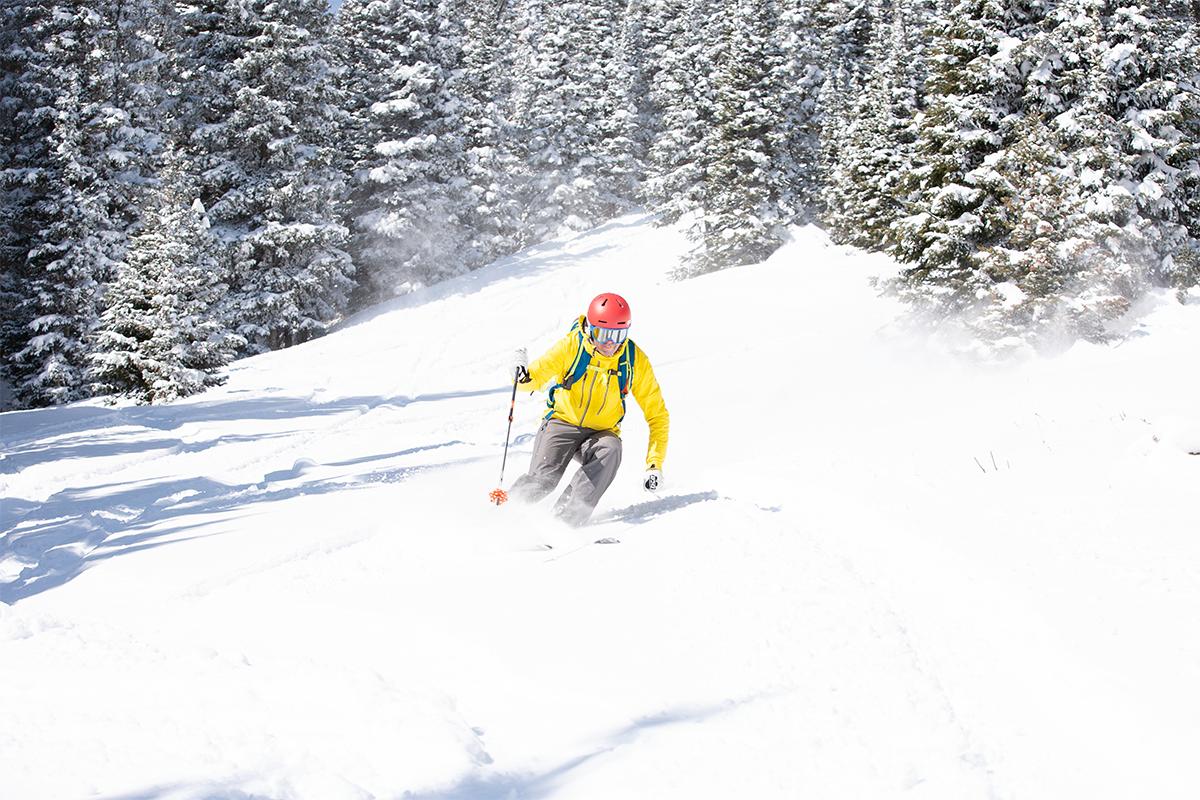 Backcountry skiing in Hidden Valley, Rocky Mountain National Park