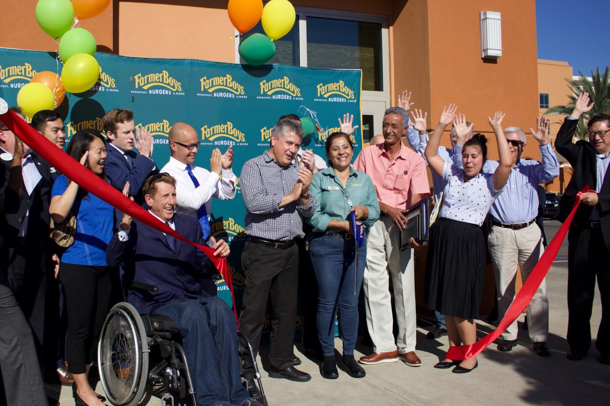 Ribbon cutting at Farmer Boys in Irvine