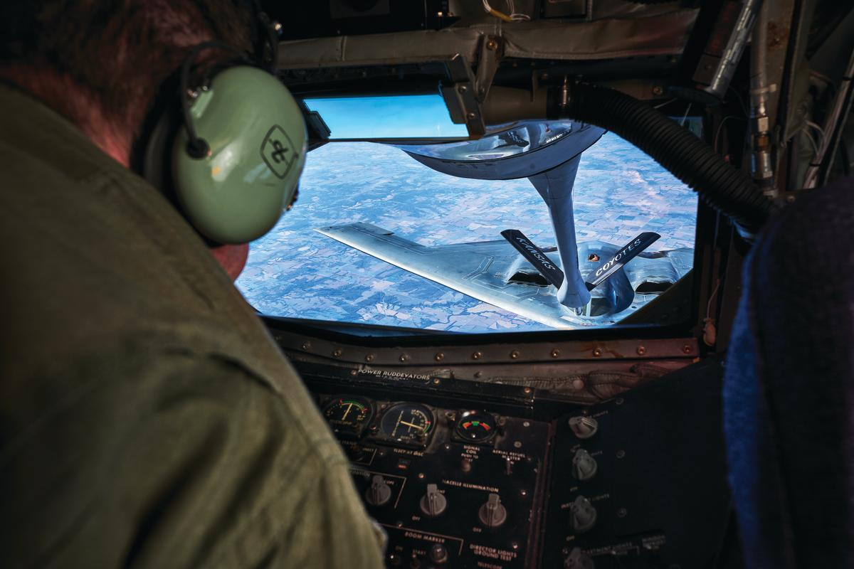 Refueling a Stealth Bomber