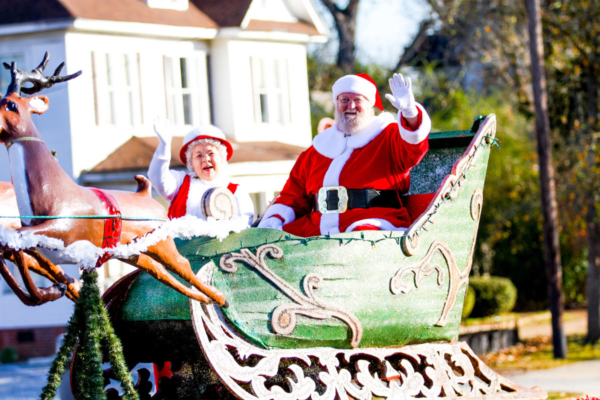 Christmas Parade Santa arrival