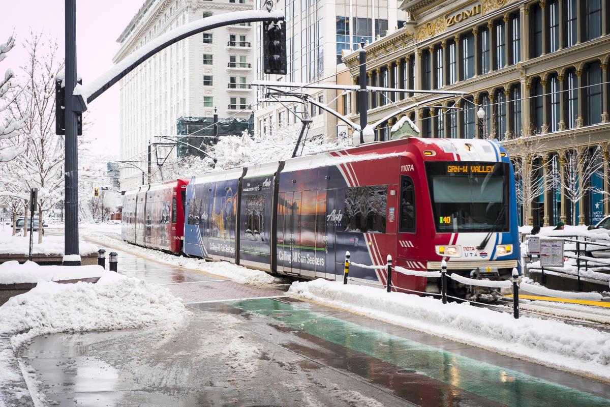 TRAX in Downtown Salt Lake