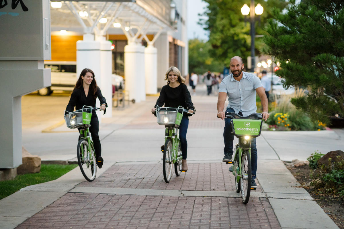 Hop on a GREENbike and get to the next brewery even faster