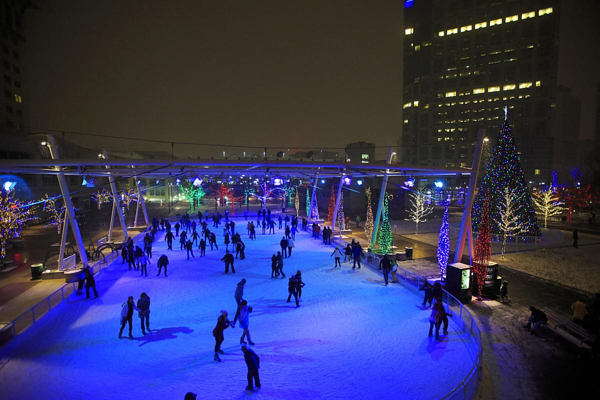 Ice Skating Rink at The Gallivan Center