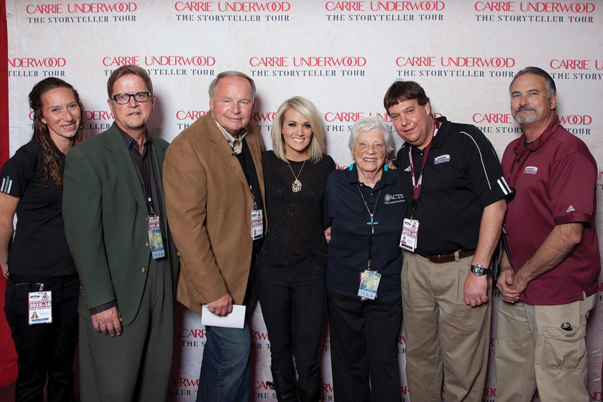 Carrie Underwood at the Pan Am Center