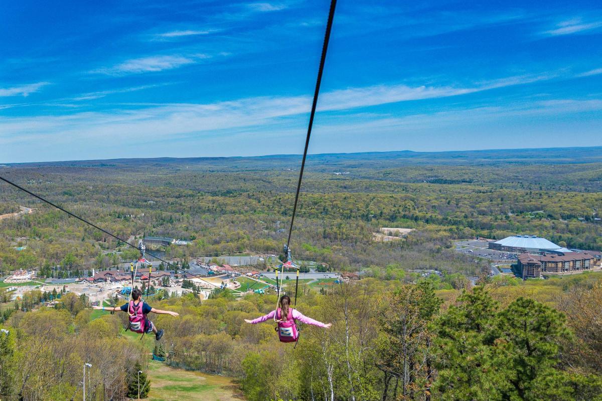 Fall Zip Line Fun in the Pocono Mountains