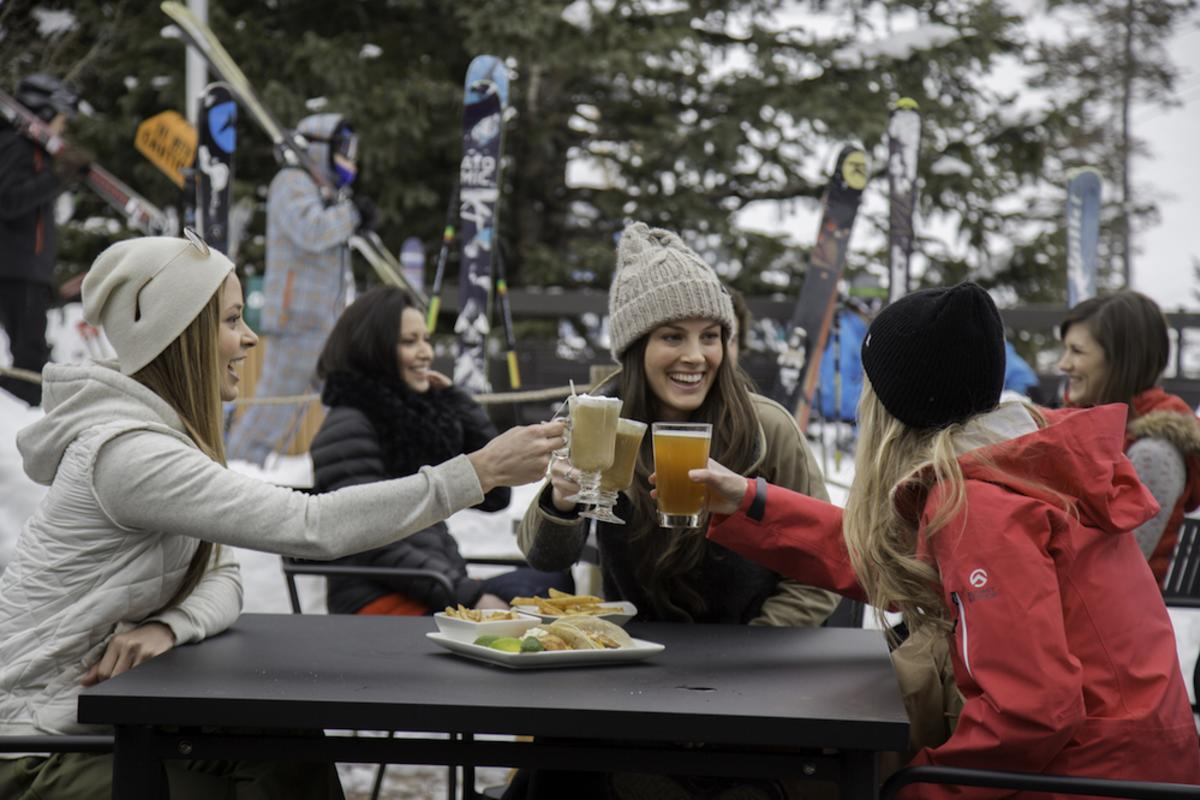 Cheers to only falling once at Snowbird