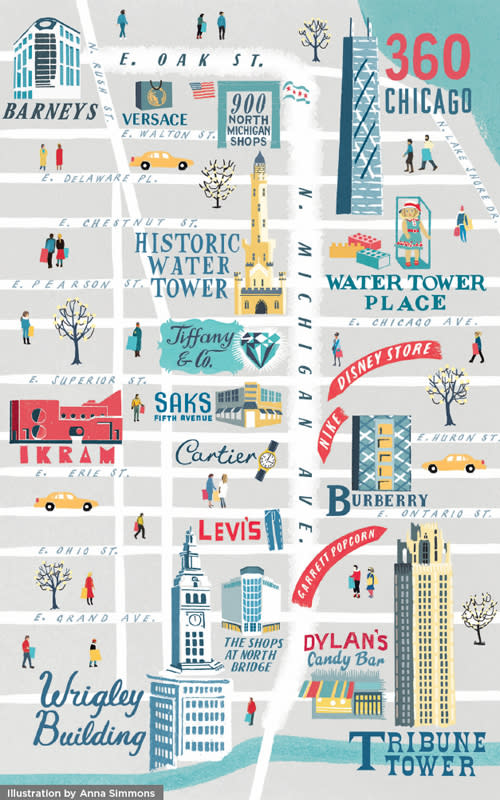 Magnificent Mile map