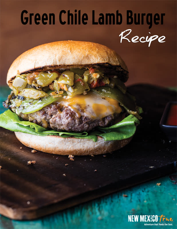 GREEN CHILE LAMB BURGER