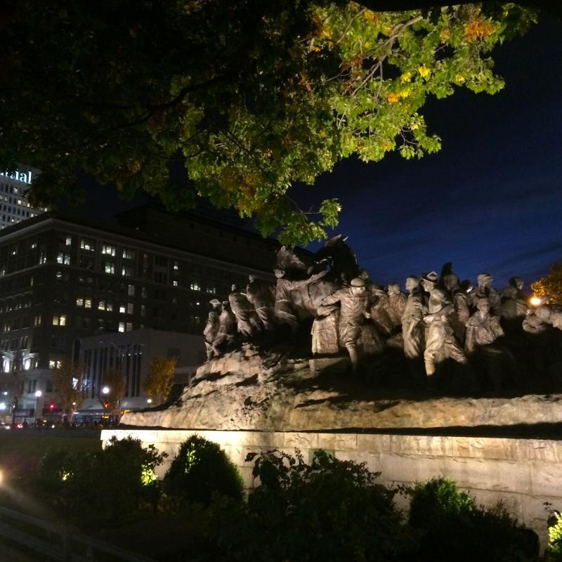 War of Americas at night