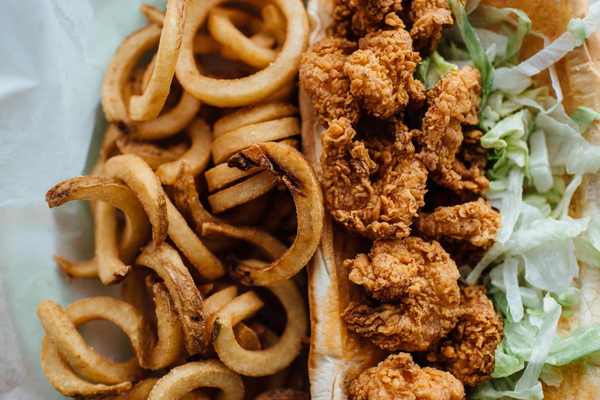 Lunch Box Fried Shrimp Po-Boy