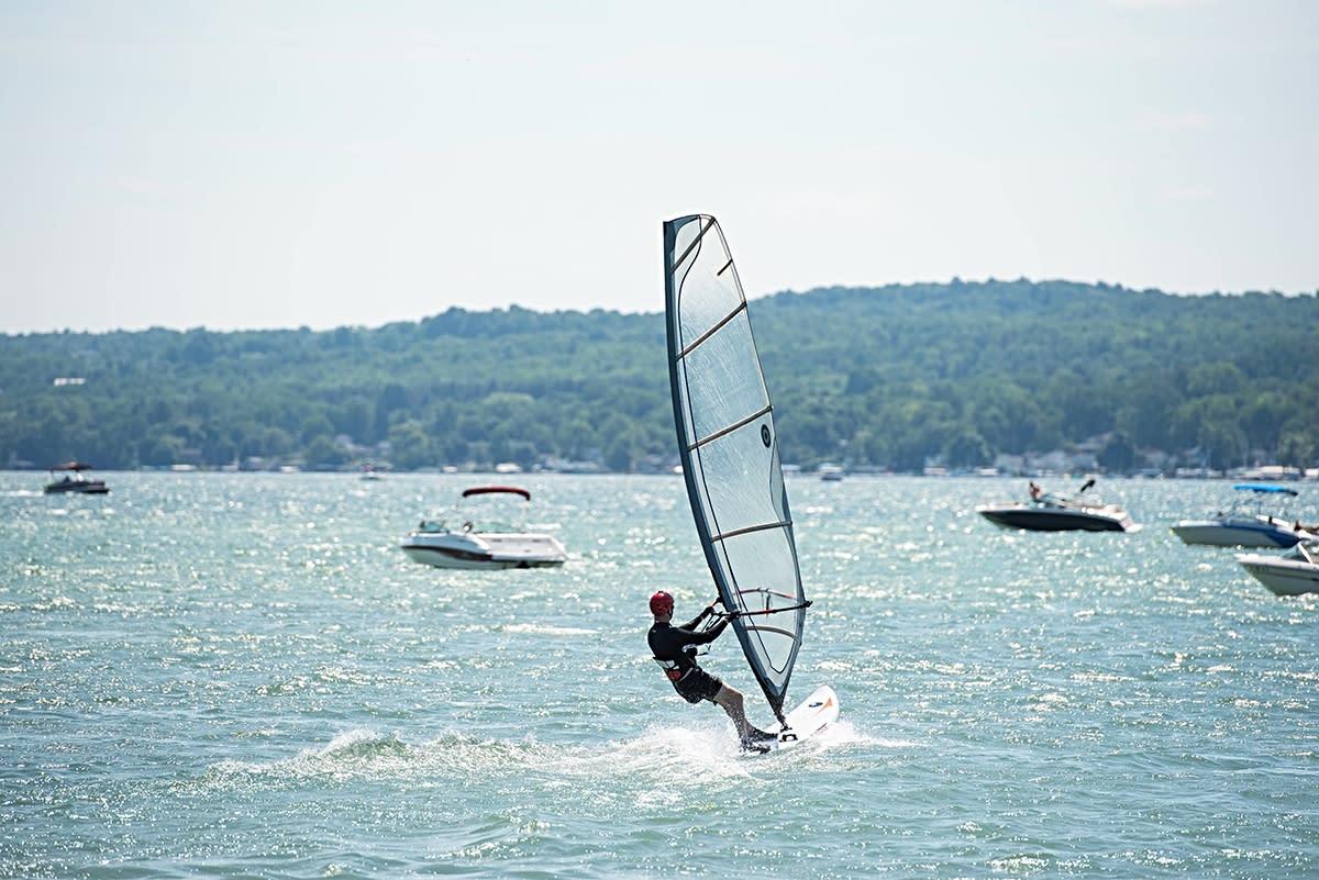Windsurfing at Canandaigua Sailboarding