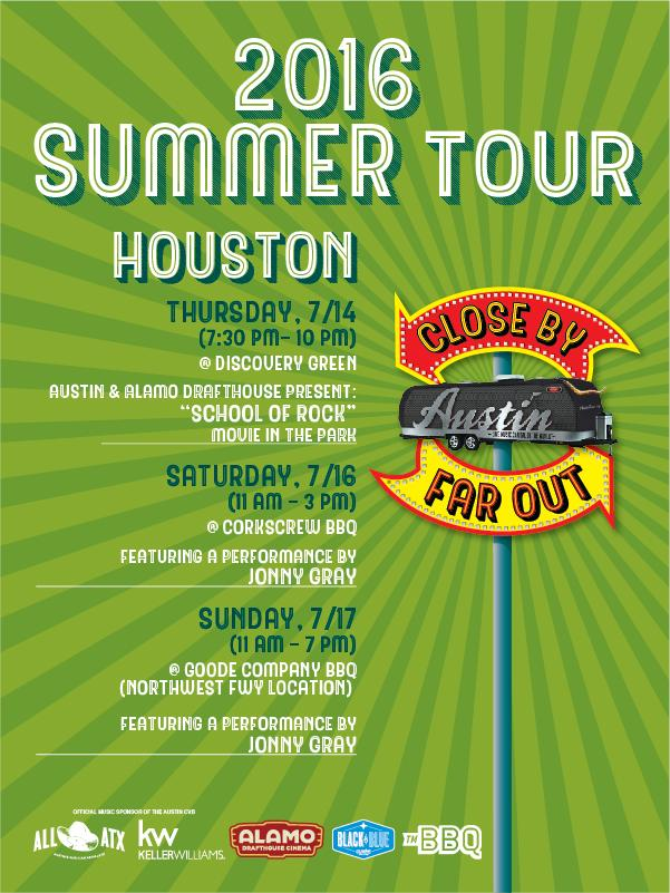 2016 Summer Airstream Tour Houston Event Poster