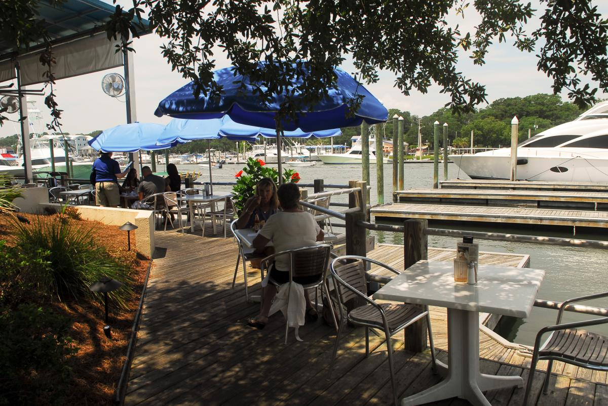 Waterfront dining at Bluewater Waterfront Grill