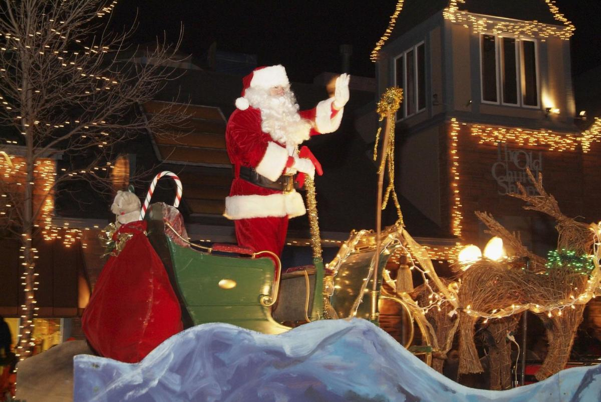 A Display of Lights During Catch The Glow Holiday Parade & Celebration, Friday After Thanksgiving