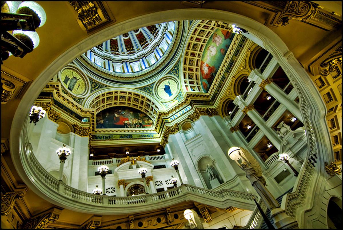 PA Capitol Complex-Harrisburg-Round Lobby-Interior