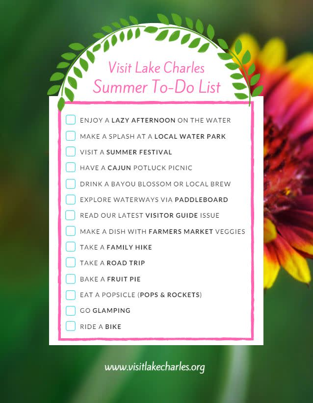 Save this for some Louisiana summer fun! | www.visitlakecharles.org