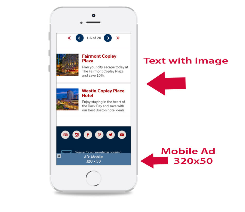 Responsive Website Mobile View