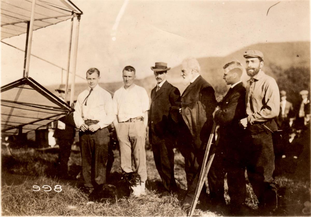 AEA group with Glenn Curtiss and Alexander Graham Bell courtesy Glenn H Curtiss Museum