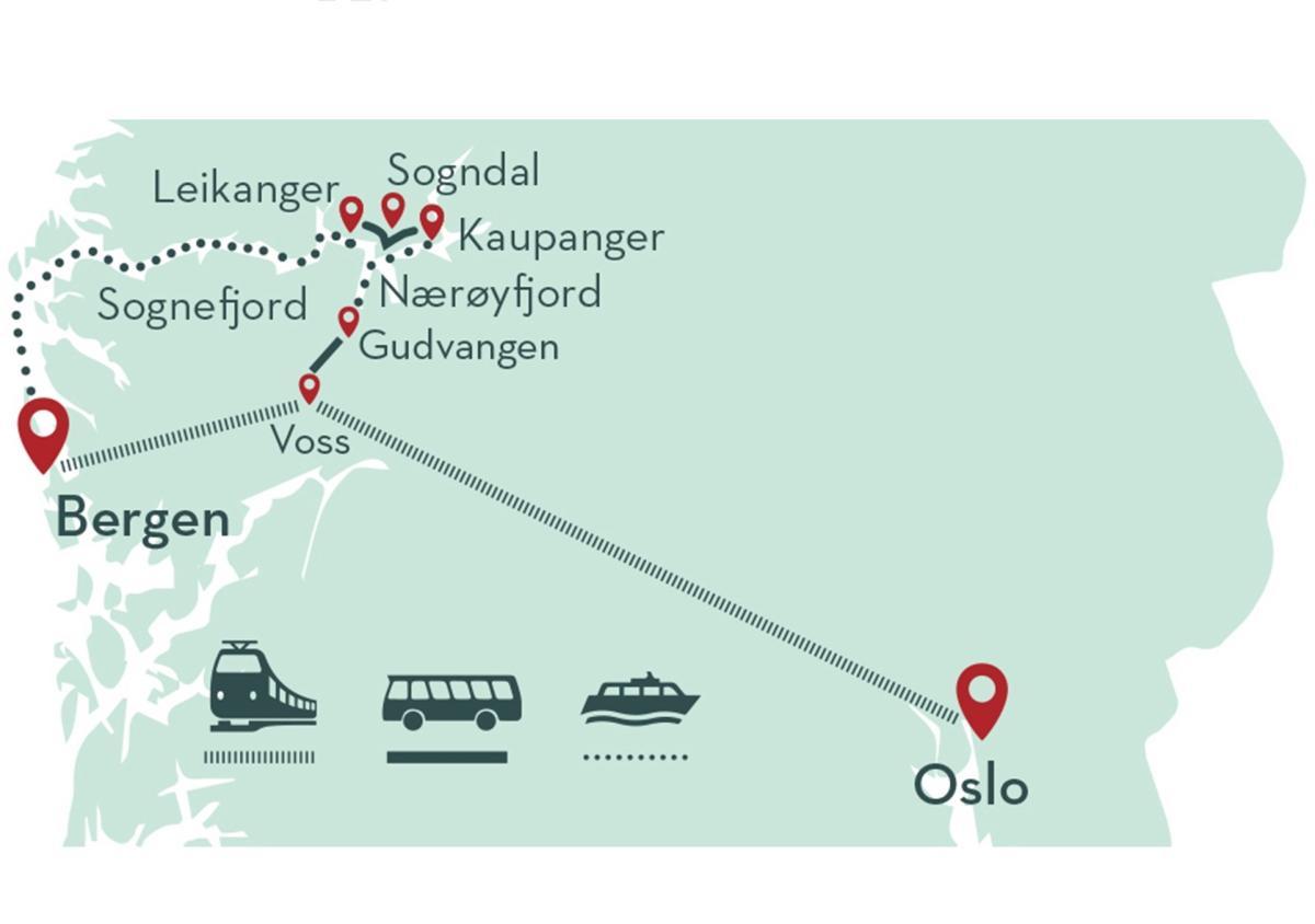 Sognefjord & Nærøyfjord in a nutshell