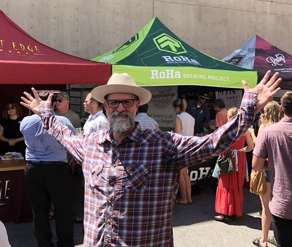 Brad Wheeler at Pie and Beer Day