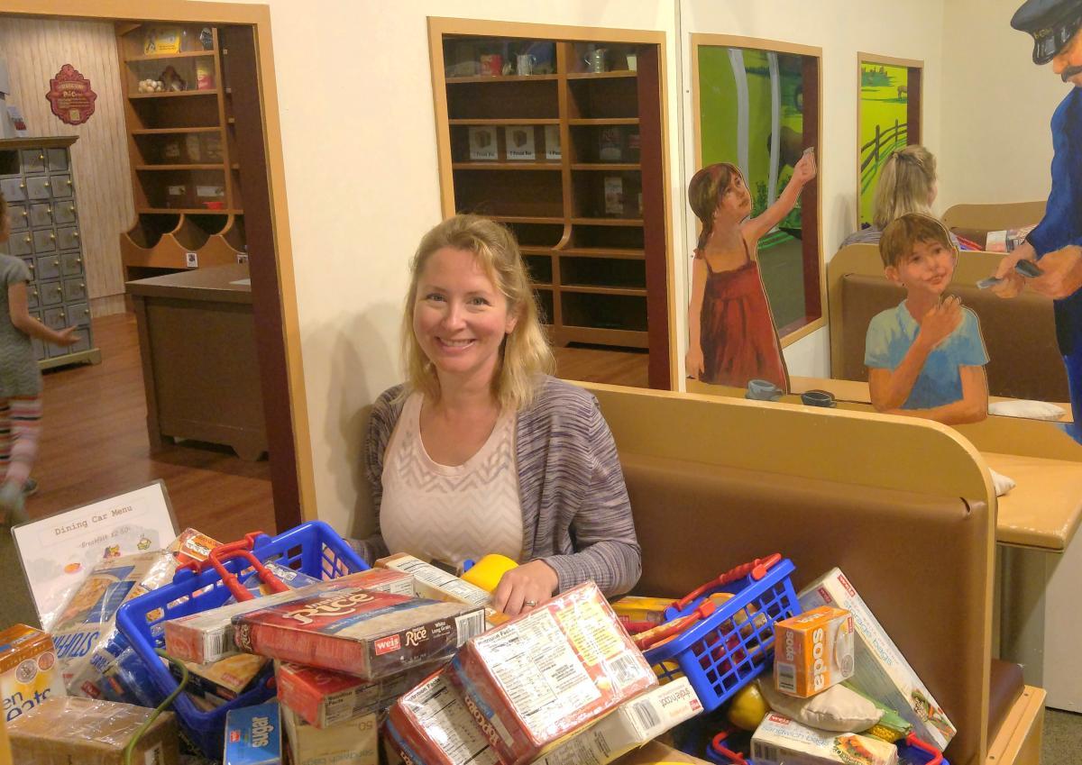 Sorting Mail at Bucks County Children's Museum