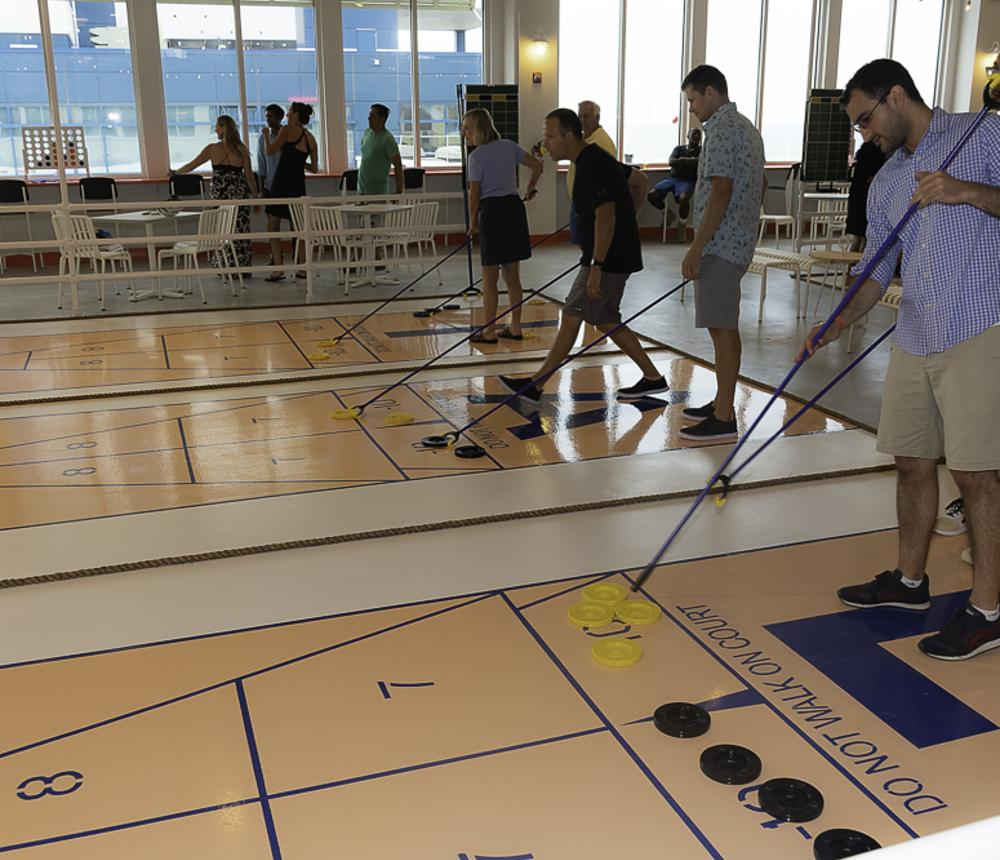 First time shuffleboard players
