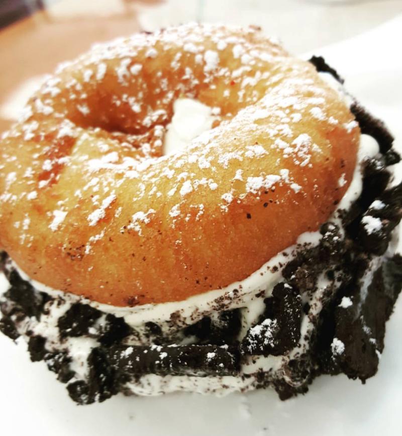 Amazing Glazed Donut Ice Cream Sandwich