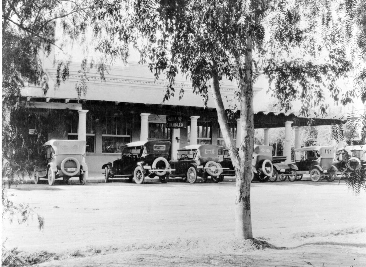 Downtown Chandler's Valley National Bank in the 1930s