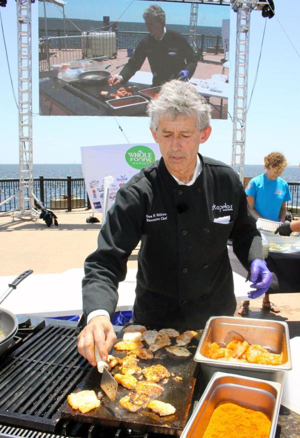 Gus Silivos at the lionfish festival