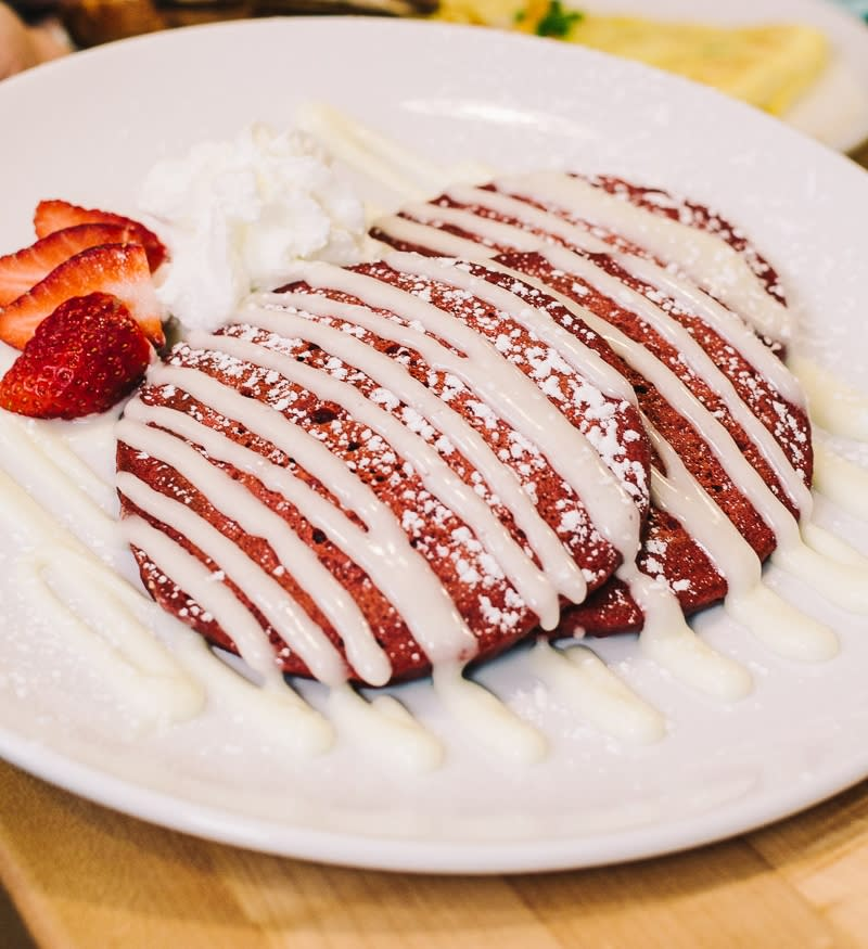 Red Velvet Pancakes at Red Spire