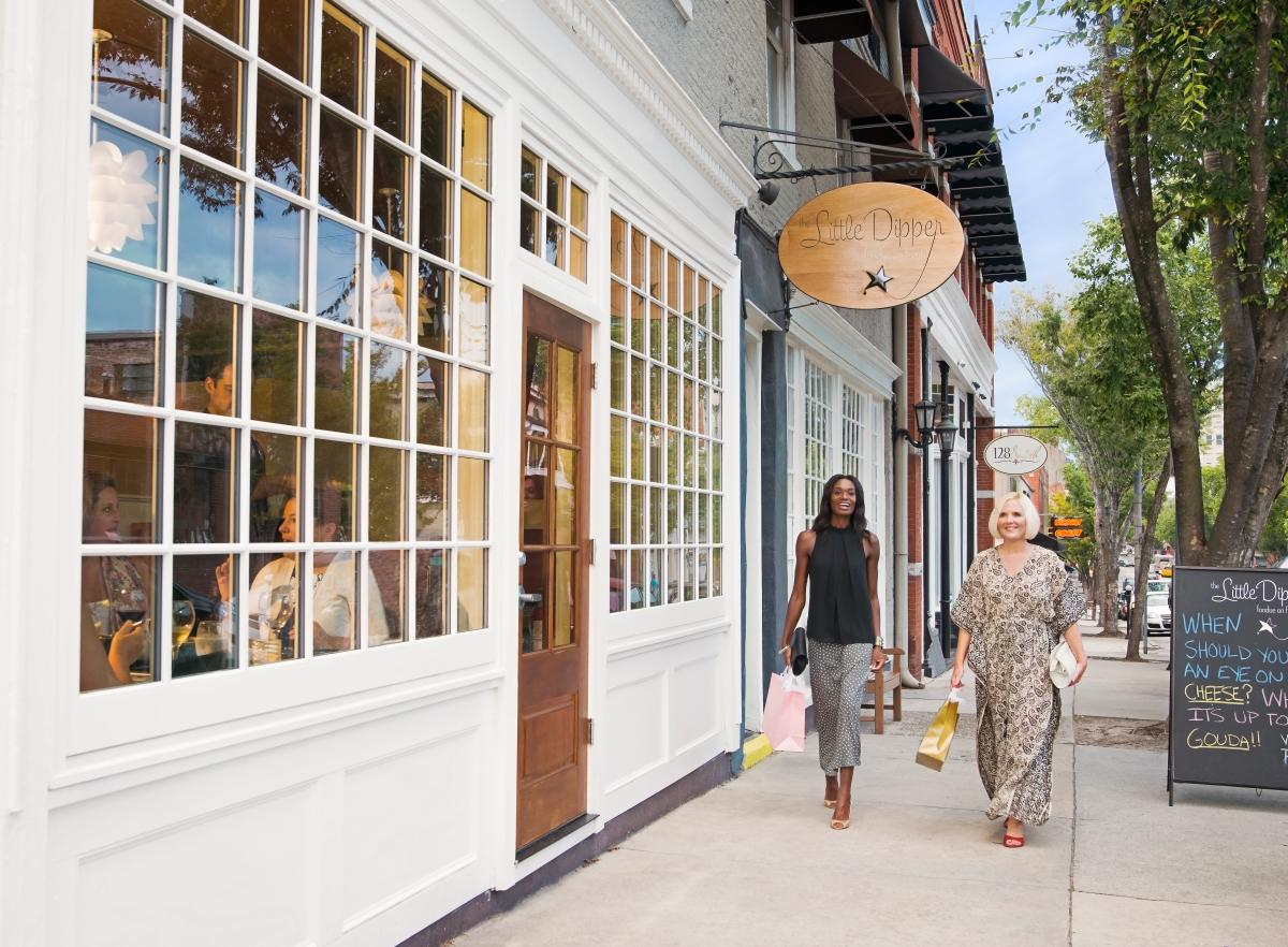 Shopping on Front Street in downtown Wilmington