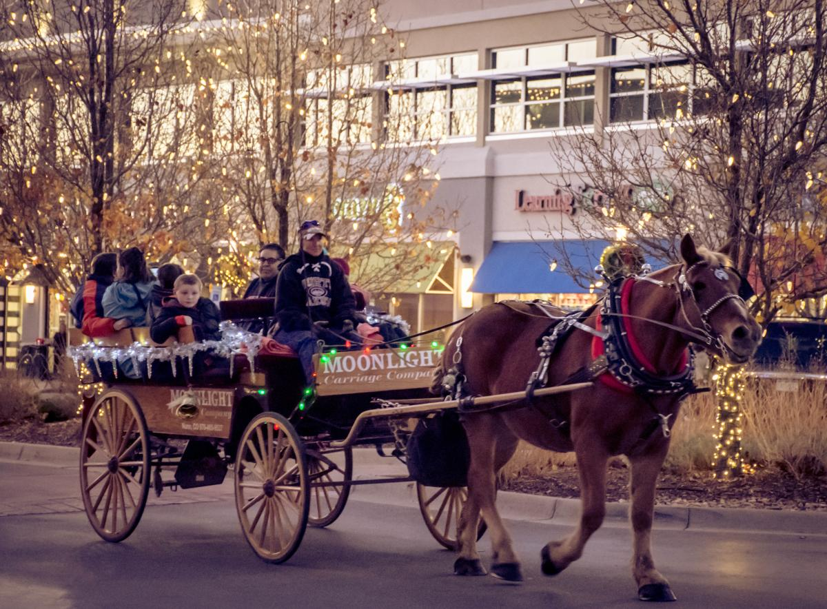 Front Range Village Holiday Horse and Carraige