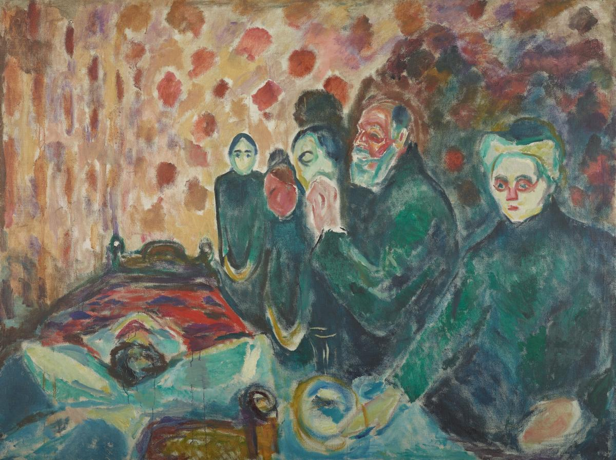 """Death Struggle"", Edvard Munch (1915)"