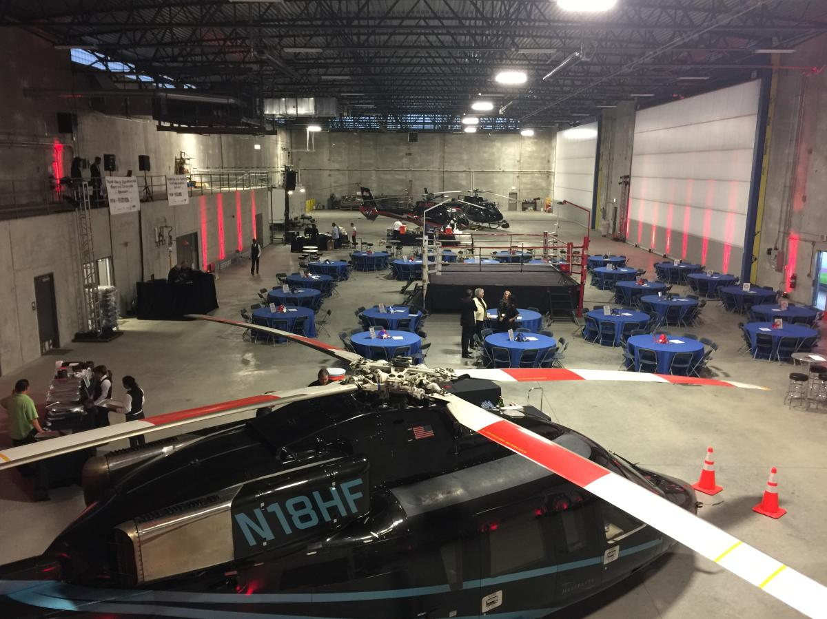Vertiport Chicago corporate event set-up
