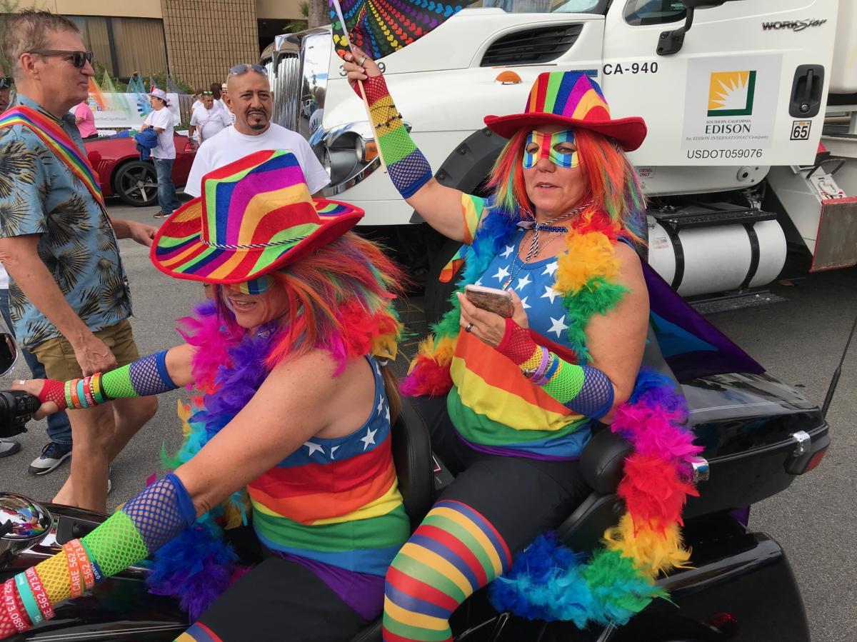 Palm Springs Pride Parade Dykes of Bikes