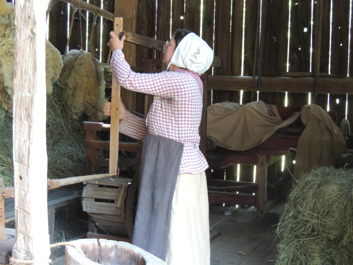 Butter-Churning Demonstrations in the Bank Barn at Quiet Valley