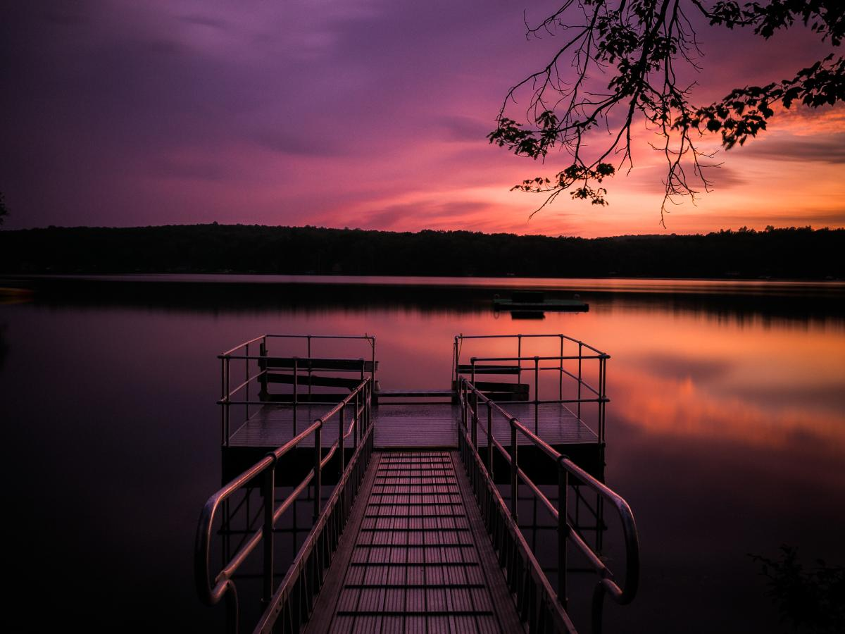 Sunsets in the Pocono Mountains