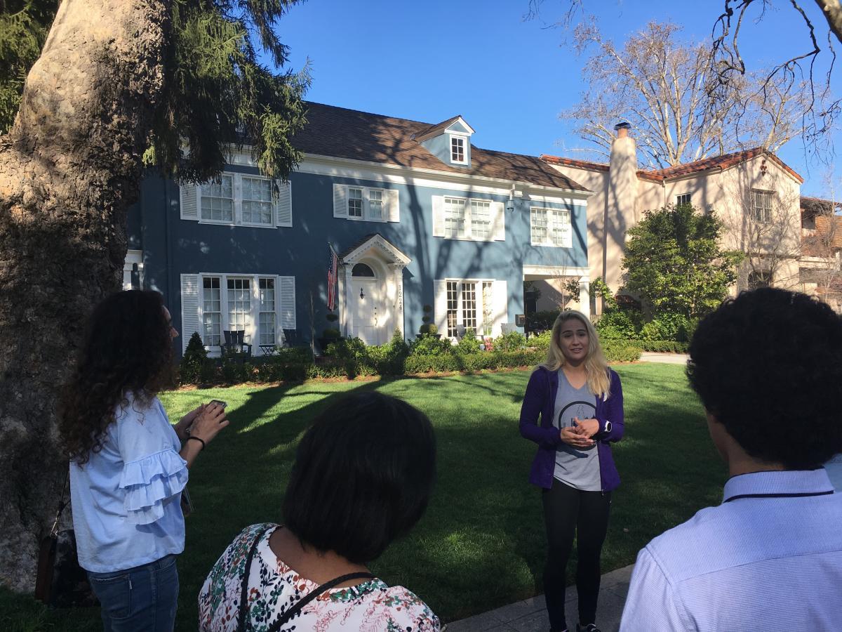 Lady Bird Blue House in Sacramento Running Tours