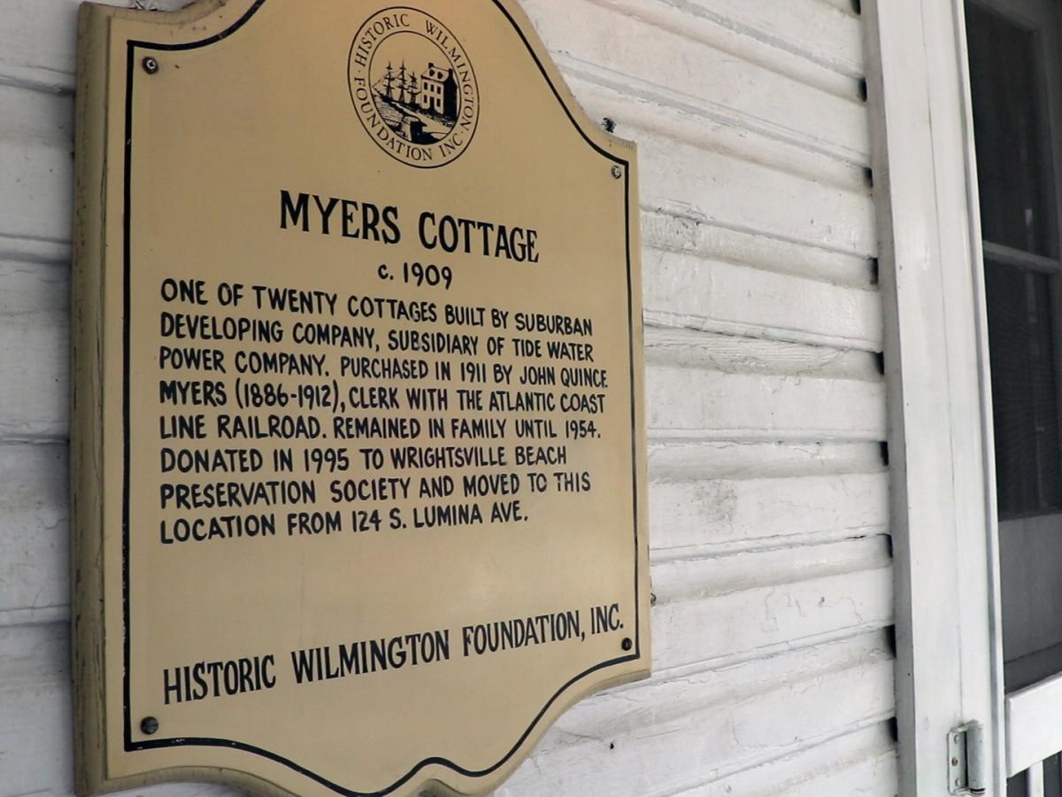 Wrightsville Beach Museum of History Myers Cottage Sign