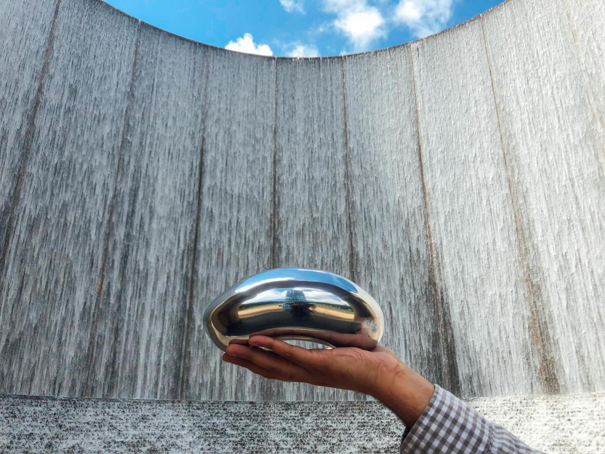 Chicago Bean at Water Wall