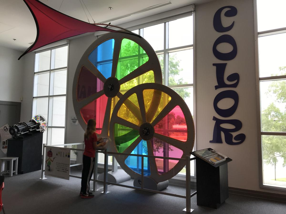 carley's adventure color wheel at hville museum of art