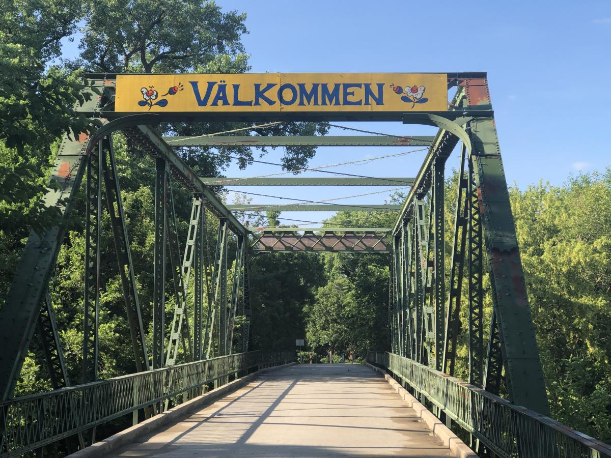 Valkommen Trail Bridge in Lindsborg, KS