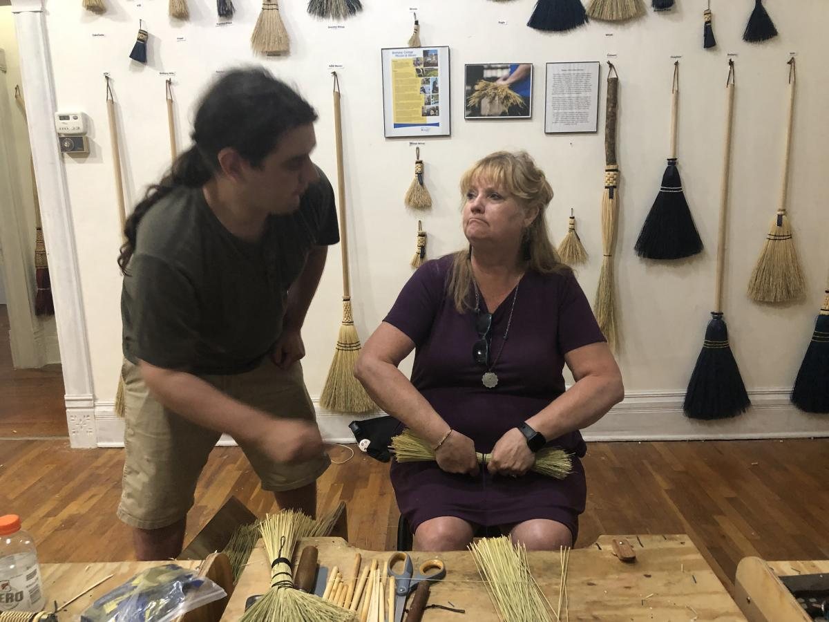 Broom Making at The Swedish Pavilion in Lindsborg, KS