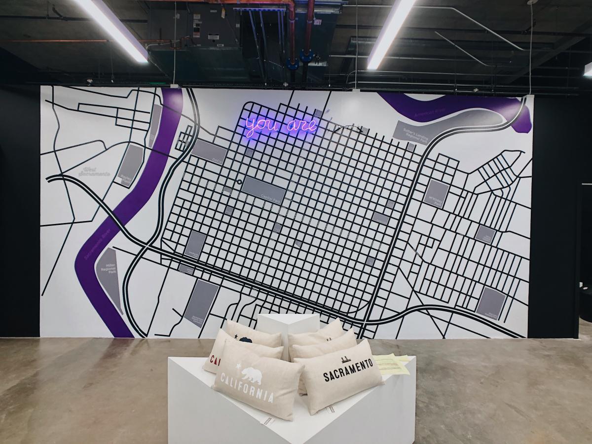 Display: Sacramento Popup Visitors' Center Map