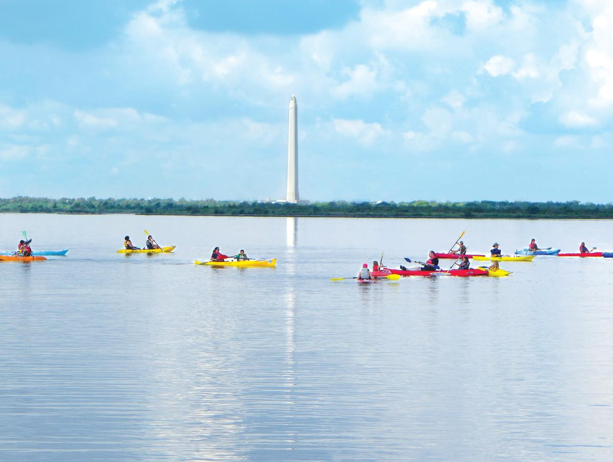 Kayakers in Baytown