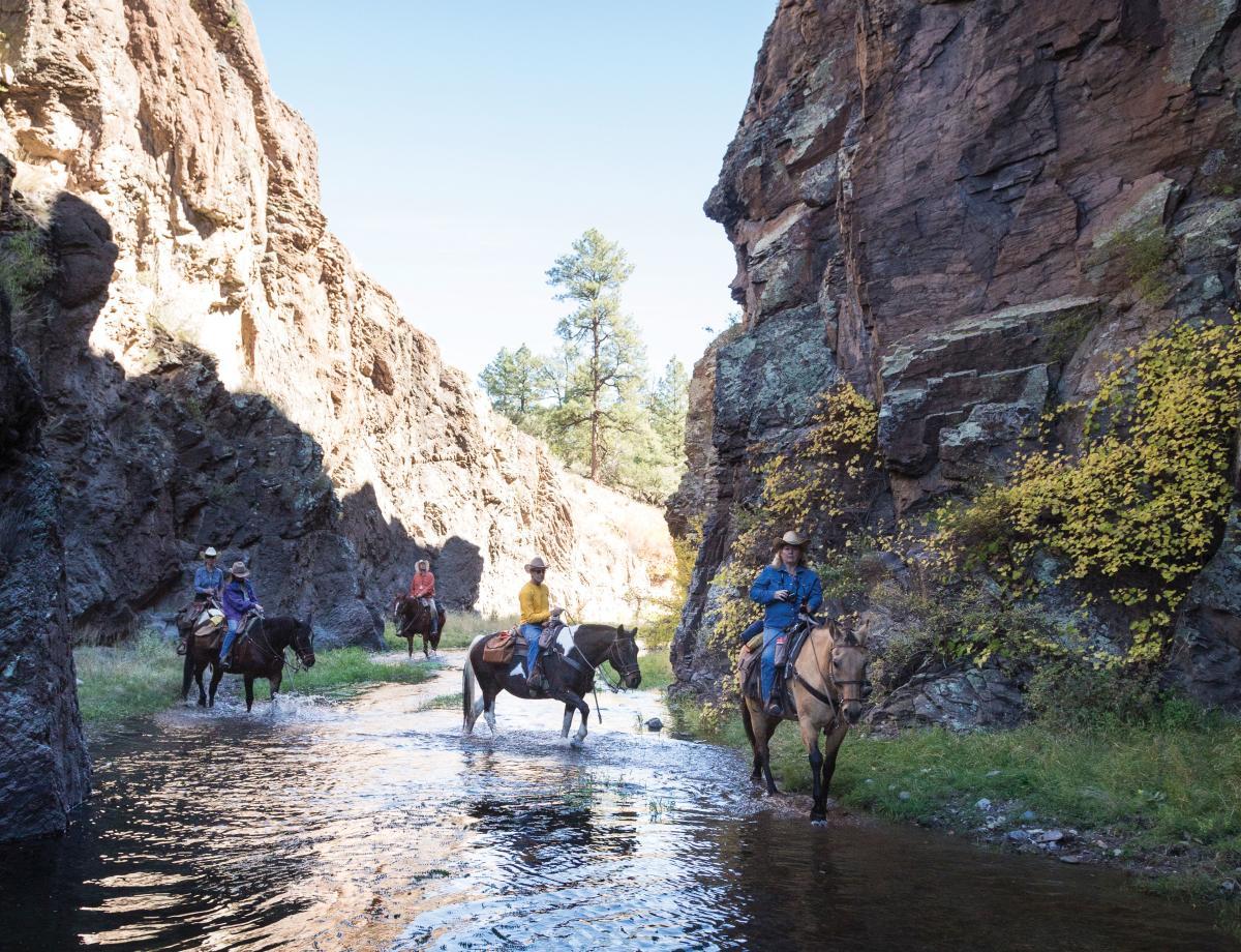 Riders at Geronimo Trails Ranch